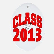 Class of 2013 (red2) Ornament (Oval)