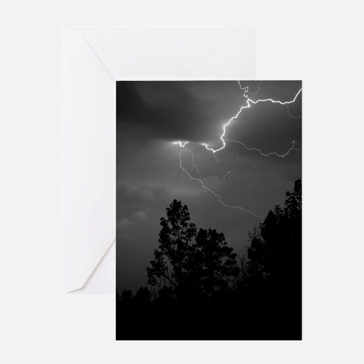 Lightning-1 Greeting Card