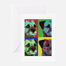 Pop Art Border Terrier Greeting Cards (Pk of 10)