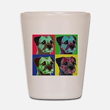 Pop Art Border Terrier Shot Glass