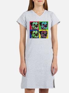Pop Art Border Terrier Women's Nightshirt