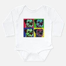 Pop Art Border Terrier Long Sleeve Infant Bodysuit