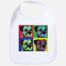 Pop Art Border Terrier Bib