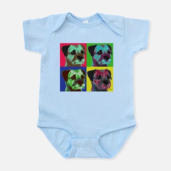 Pop Art Border Terrier Infant Bodysuit