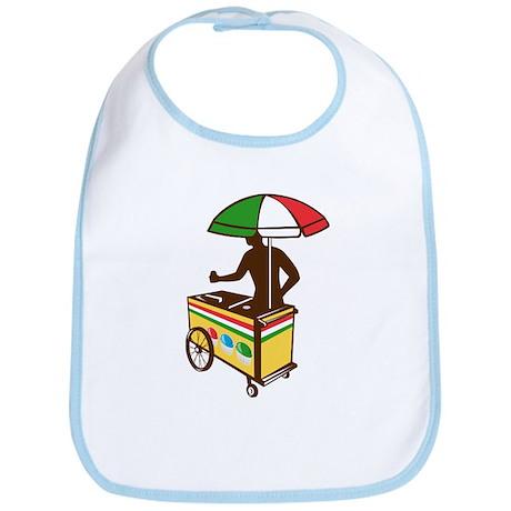Italian Ice Push Cart Retro Bib