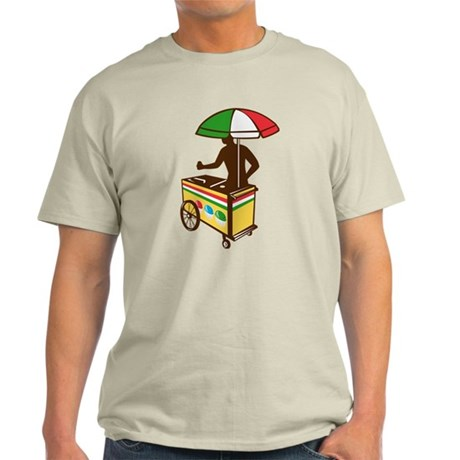 Italian Ice Push Cart Retro Light T-Shirt