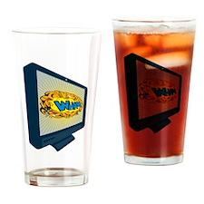 LCD Plasma TV Television Wham Drinking Glass
