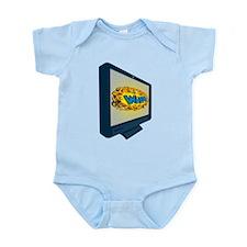 LCD Plasma TV Television Wham Infant Bodysuit