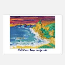 Half Moon Bay 700.jpg Postcards (Package of 8)