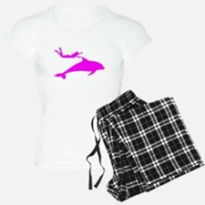 Swimming with Dolphins Pink Pajamas