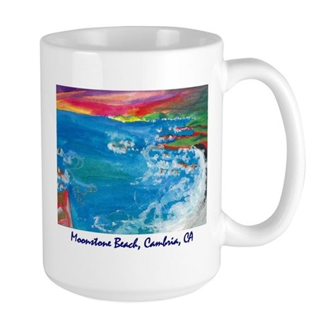 Moonstone Beach Cambria 700.jpg Large Mug