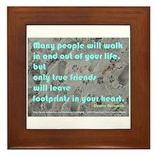 Unique Beauty quote Framed Tile
