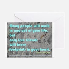 New! Footprints in Your Heart Greeting Cards