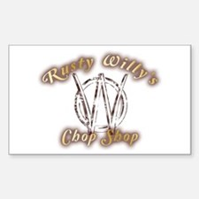 Rusty Willy's Chop Shop Decal