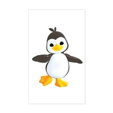 Penguin Dance Rectangle Decal