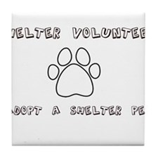 Animal Shelter Volunteer Tile Coaster