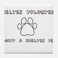 Animal Shelter Volunteer Tile Coaster