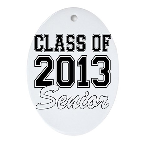 Class of 2013 Senior Ornament (Oval)