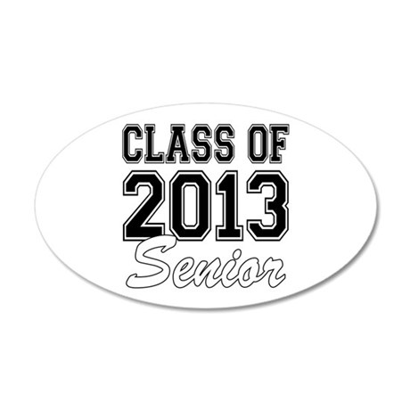 Class of 2013 Senior 20x12 Oval Wall Decal