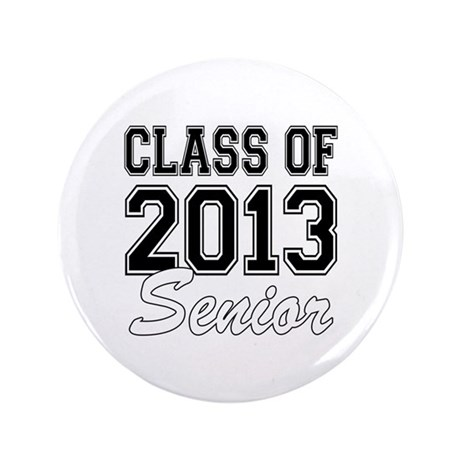 "Class of 2013 Senior 3.5"" Button (100 pack)"