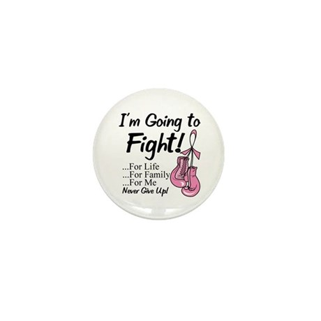 Going to Fight Breast Cancer Mini Button (10 pack)