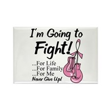 Going to Fight Breast Cancer Rectangle Magnet (10