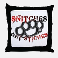 Snitches Get Stiches Throw Pillow