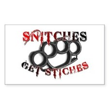 Snitches Get Stiches Decal