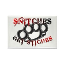 Snitches Get Stiches Rectangle Magnet