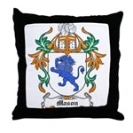 Mason Coat of Arms Throw Pillow