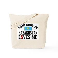 Somebody In Kazakhstan Tote Bag
