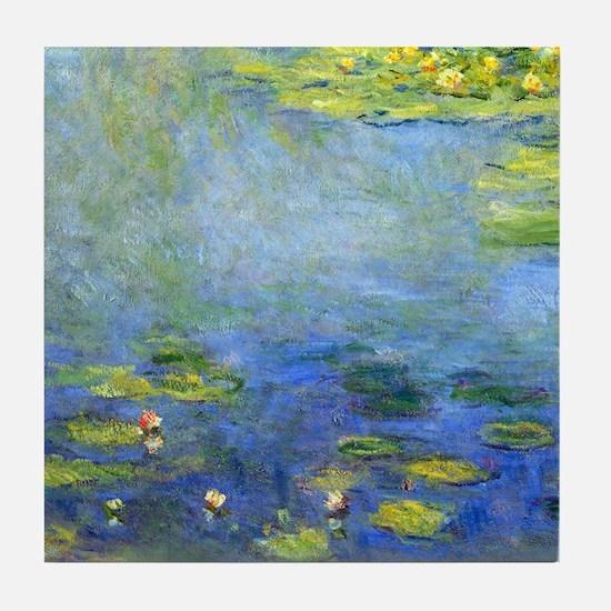 Monet - Lilies 1906 Tile Coaster