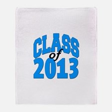 Class of 2013 (blue) Throw Blanket