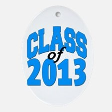 Class of 2013 (blue) Ornament (Oval)