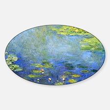 Monet - Lilies 1906 Sticker (Oval)