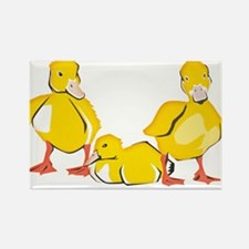 Trio of Ducklings Rectangle Magnet