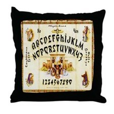 Vintage Egyptian Ouija Board Throw Pillow