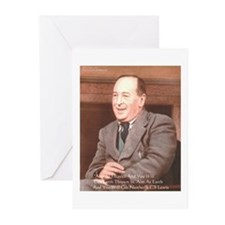 CS Lewis Aim At Heaven Quote Gifts Greeting Cards