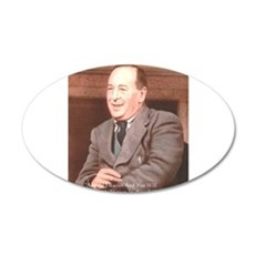 CS Lewis Aim At Heaven Quote Gifts 35x21 Oval Wall