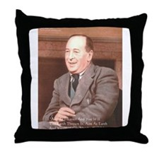 CS Lewis Aim At Heaven Quote Gifts Throw Pillow