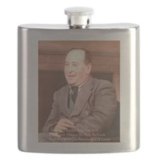 CS Lewis Aim At Heaven Quote Gifts Flask