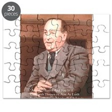 CS Lewis Aim At Heaven Quote Gifts Puzzle