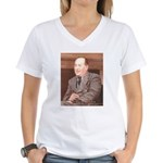 CS Lewis Aim At Heaven Quote Gifts Women's V-Neck