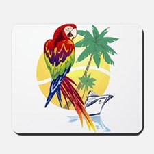 Tropical Paradise with Macaw and Cruise Ship Mouse