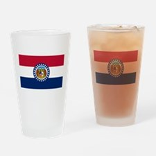 Missouri State Flag Drinking Glass