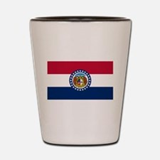 Missouri State Flag Shot Glass