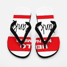 Hank E. Panky Name Tag Flip Flops