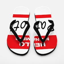 Patriot Name Tag Flip Flops