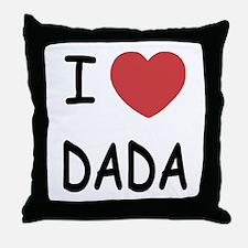 I heart dada Throw Pillow