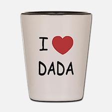 I heart dada Shot Glass